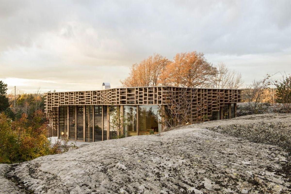casa de vigas de madeira Atelier Oslo foto 3