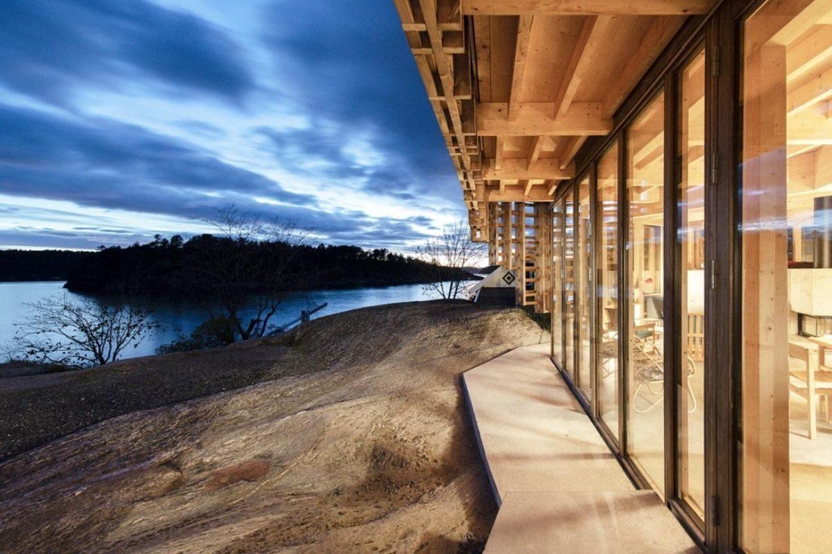 casa de vigas de madeira Atelier Oslo foto 5