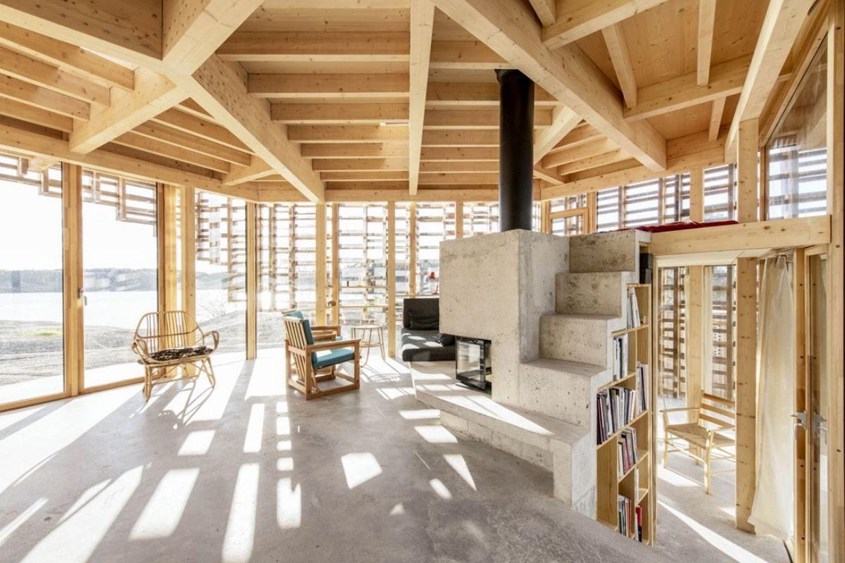 casa de vigas de madeira Atelier Oslo foto 6