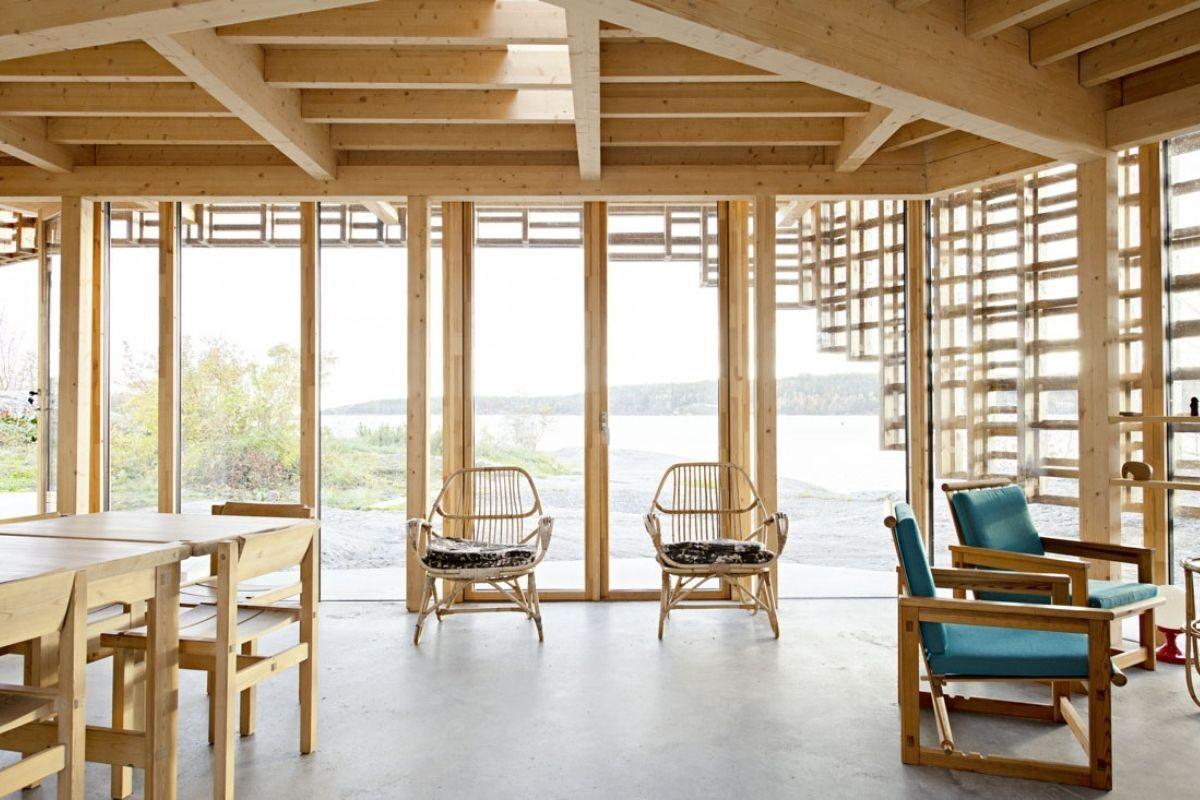 casa de vigas de madeira Atelier Oslo foto 7