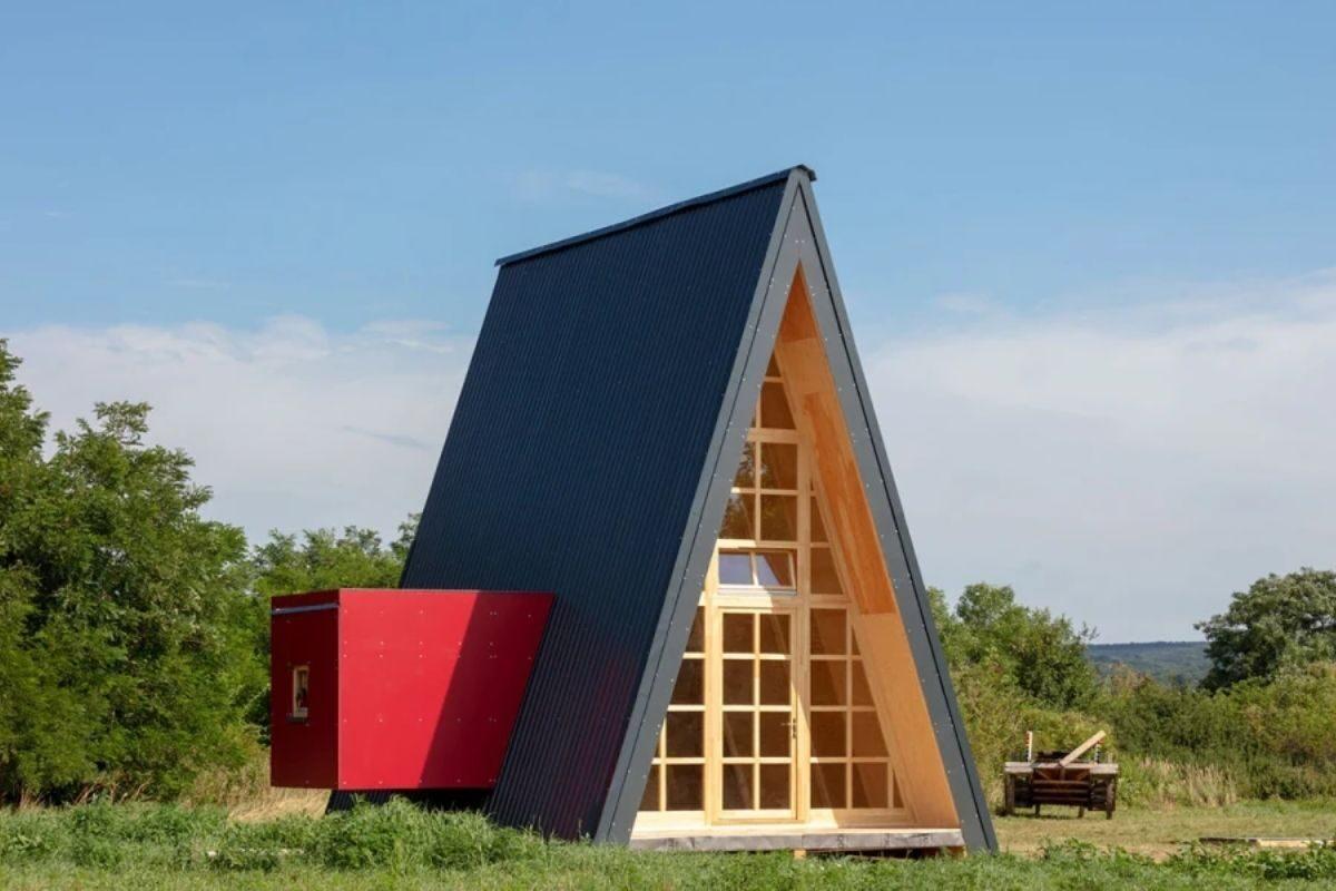 chalé de madeira modular colorido 2