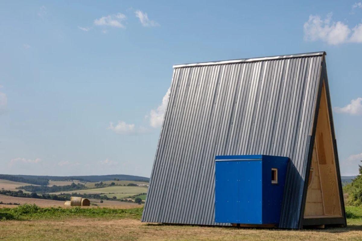chalé de madeira modular colorido 3