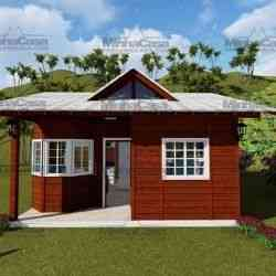 modelo de casa de madeira 2 quartos blumenau