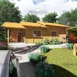 modelo de casa de madeira 2 quartos são josé