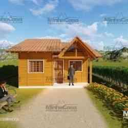 modelo de casa de madeira 2 quartos cuiabá