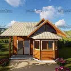 modelo de casa de madeira 2 quartos tijucas