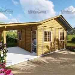 modelo de casa de madeira 1 quarto pop 1.0