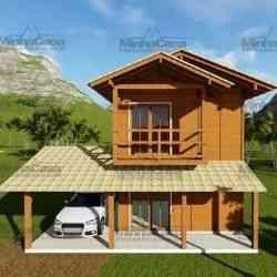 modelo de casa de madeira 2 quartos balenario piçarras