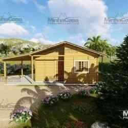 modelo de casa de madeira 3 quartos pop 3.0