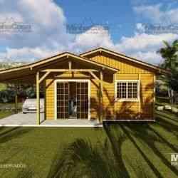 modelo de casa de madeira 3 quartos pop 3.2