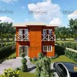 modelo de casa de madeira 3 quartos gaspar