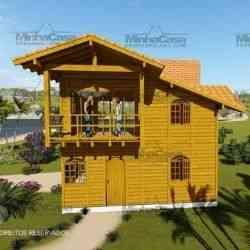 modelo de casa de madeira 3 quartos paranapanema