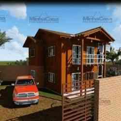 modelo de casa de madeira 3 quartos camboriu
