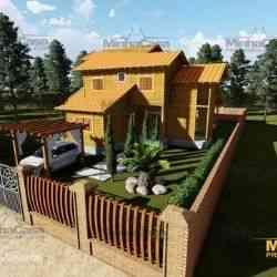 modelo de casa de madeira 4 quartos minas gerais