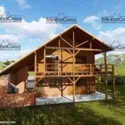 modelo de casa de madeira 4 quartos mato grosso