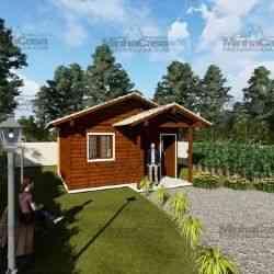 modelo de casa de madeira 1 quarto ilhota