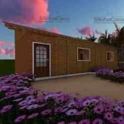 modelo de casa de madeira 1 quarto canelinha