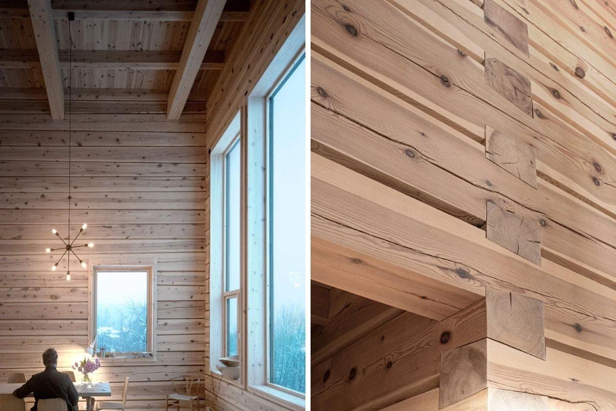 sobrado de vigas de madeira foto 10