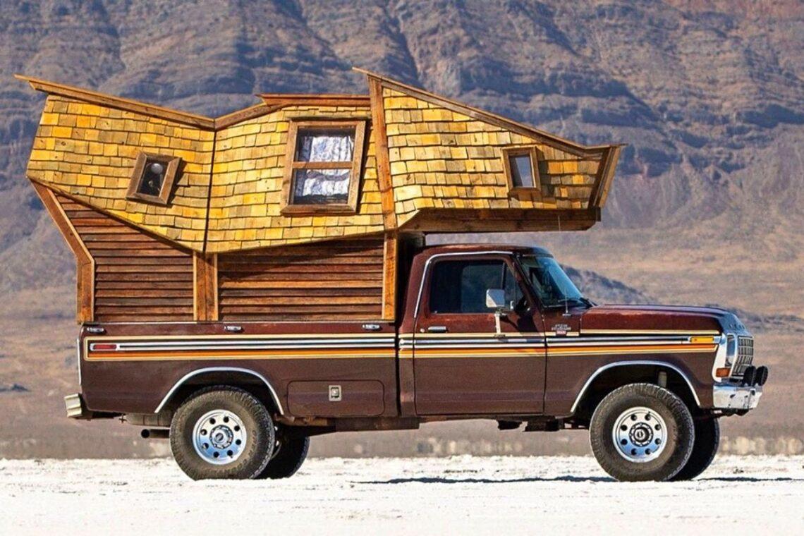 cabana de madeira motorhome jacob witzling f250 foto 1
