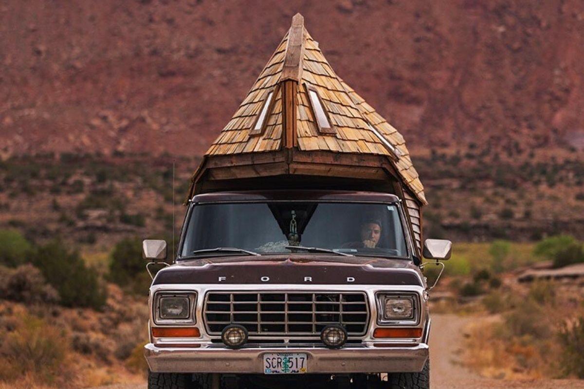 cabana de madeira motorhome jacob witzling f250 foto 10