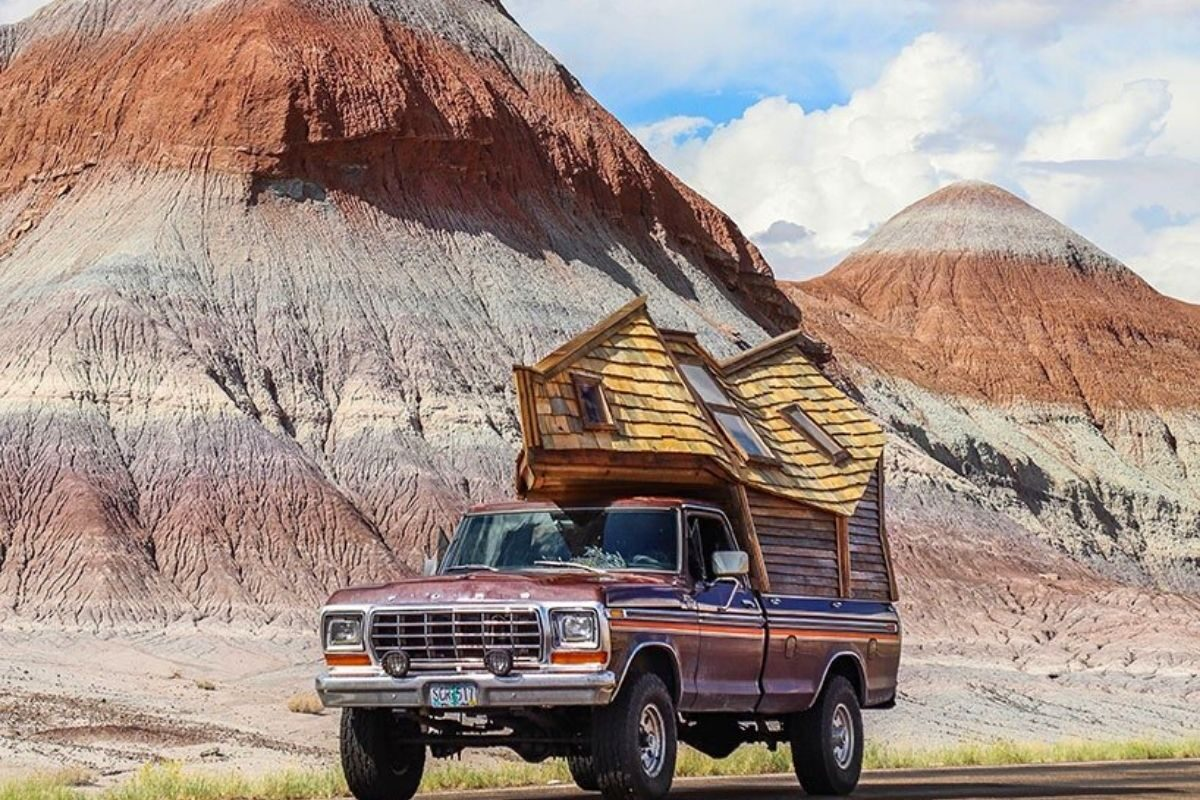 cabana de madeira motorhome jacob witzling f250 foto 11