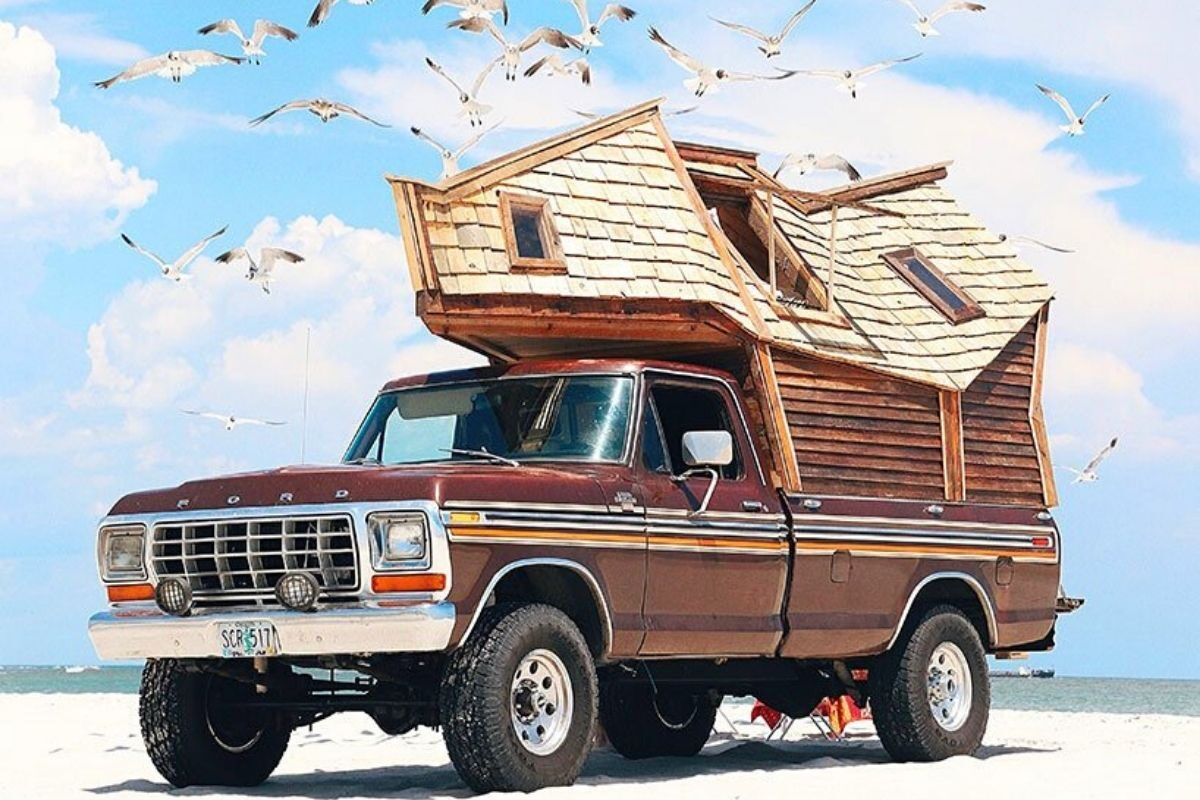 cabana de madeira motorhome jacob witzling f250 foto 13