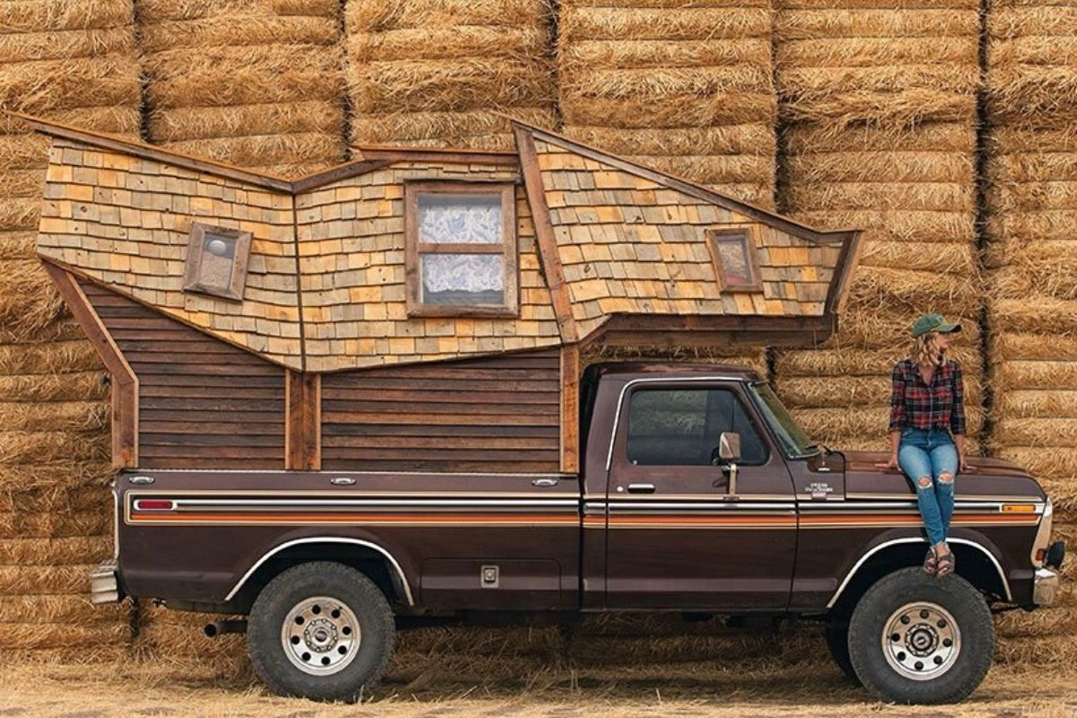 cabana de madeira motorhome jacob witzling f250 foto 14
