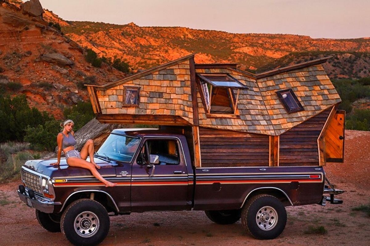 cabana de madeira motorhome jacob witzling f250 foto 15