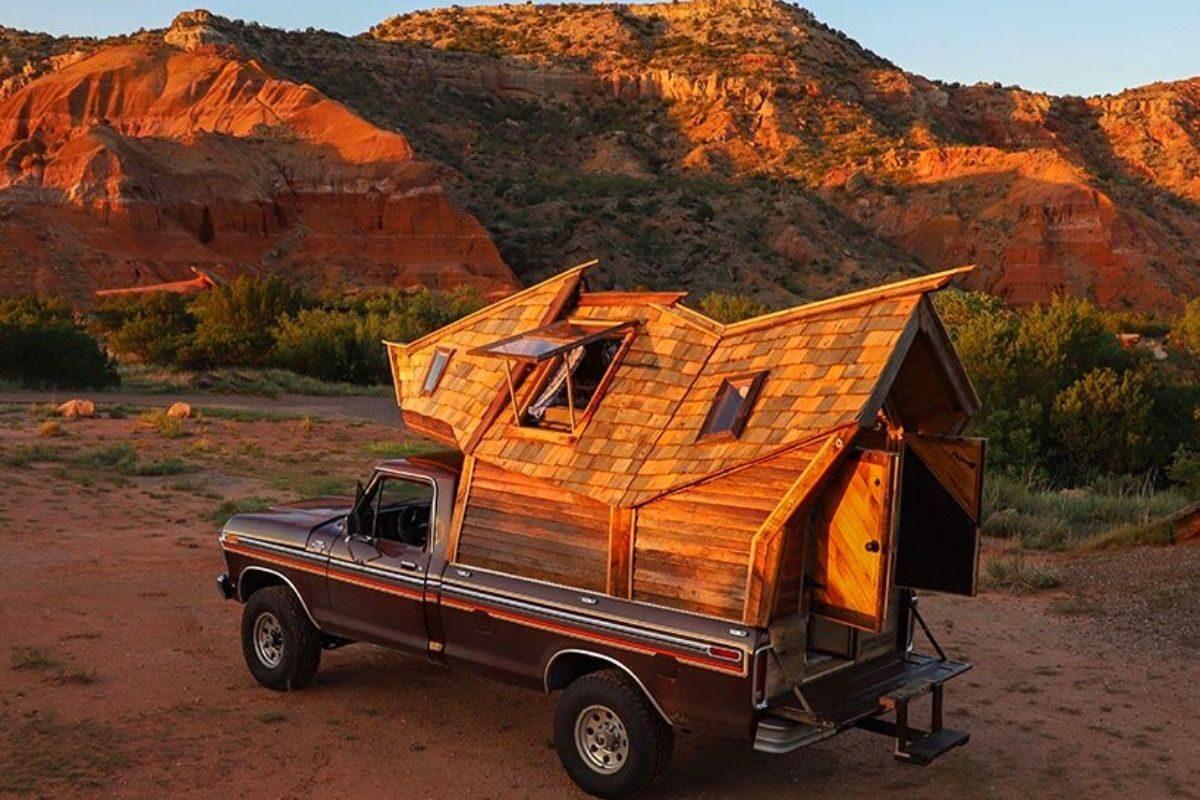 cabana de madeira motorhome jacob witzling f250 foto 2