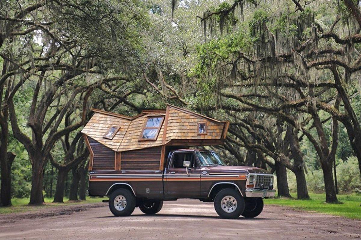cabana de madeira motorhome jacob witzling f250 foto 6