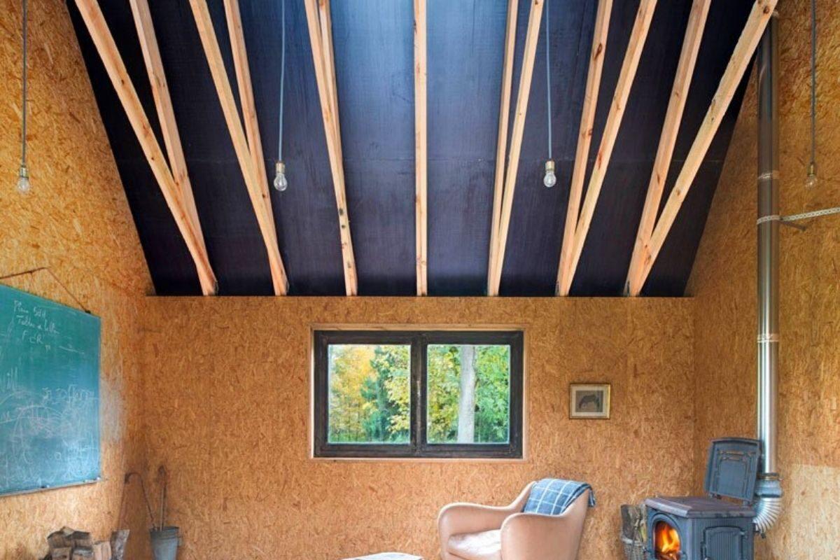 cabana de madeira oleo queimado de rosse foto 2