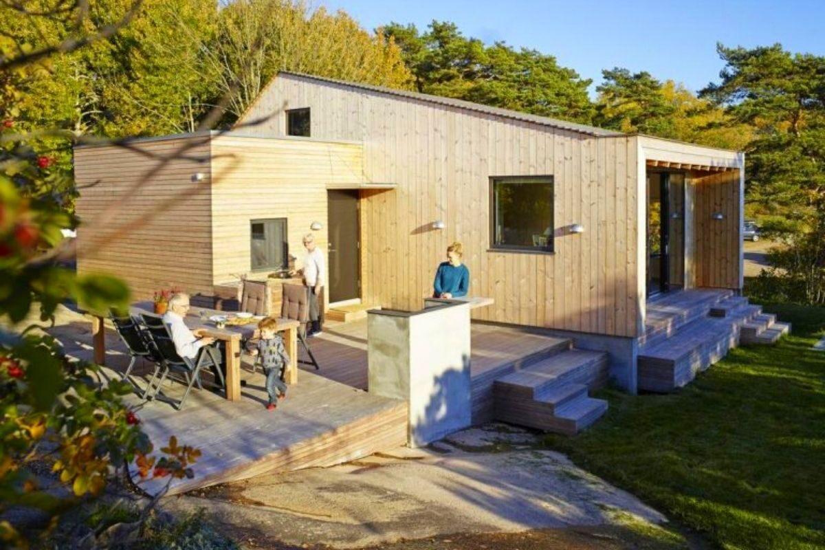 cabana de madeira prova que tamanho não é documento foto 2