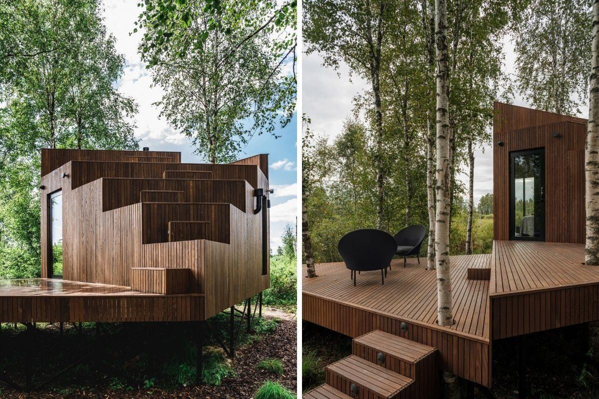cabana de madeira terraço b210 maidla nature villa foto 9