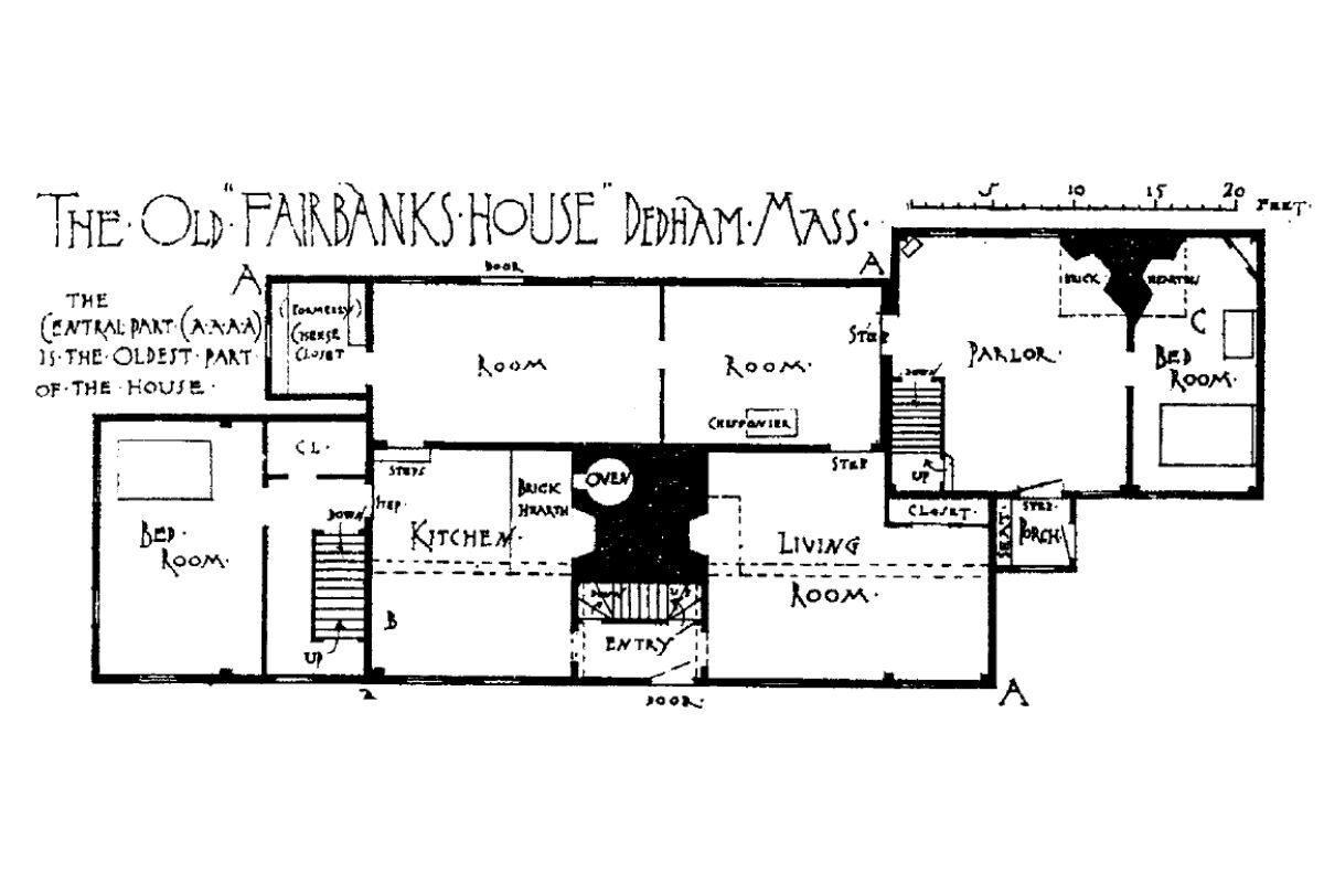 casa de madeira antiga Fairbanks House foto 7