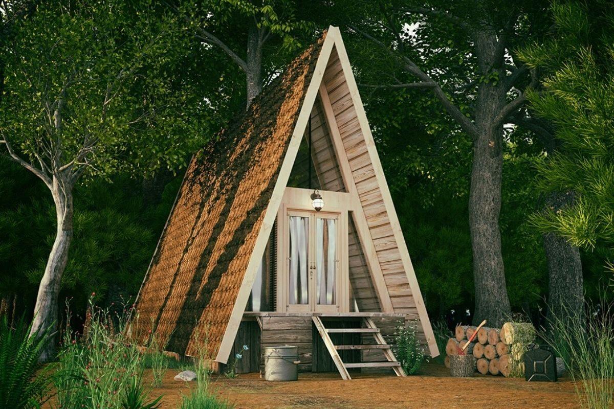 casa de madeira pequena chalé