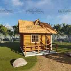 casa de madeira pequena modelo pousada II