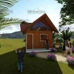 casa de madeira pequena modelo pousada III