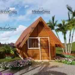 casa de madeira pequena modelo pousada pop 1.0