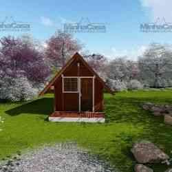 casa de madeira pequena modelo pousada
