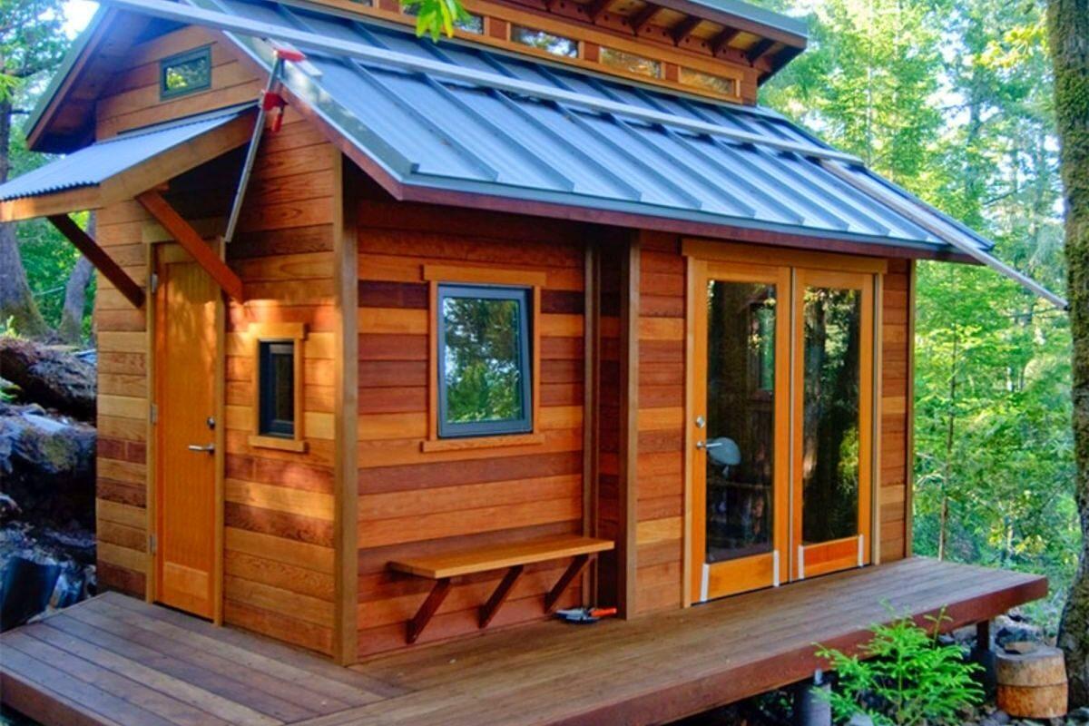 casa de madeira pequena tiny house
