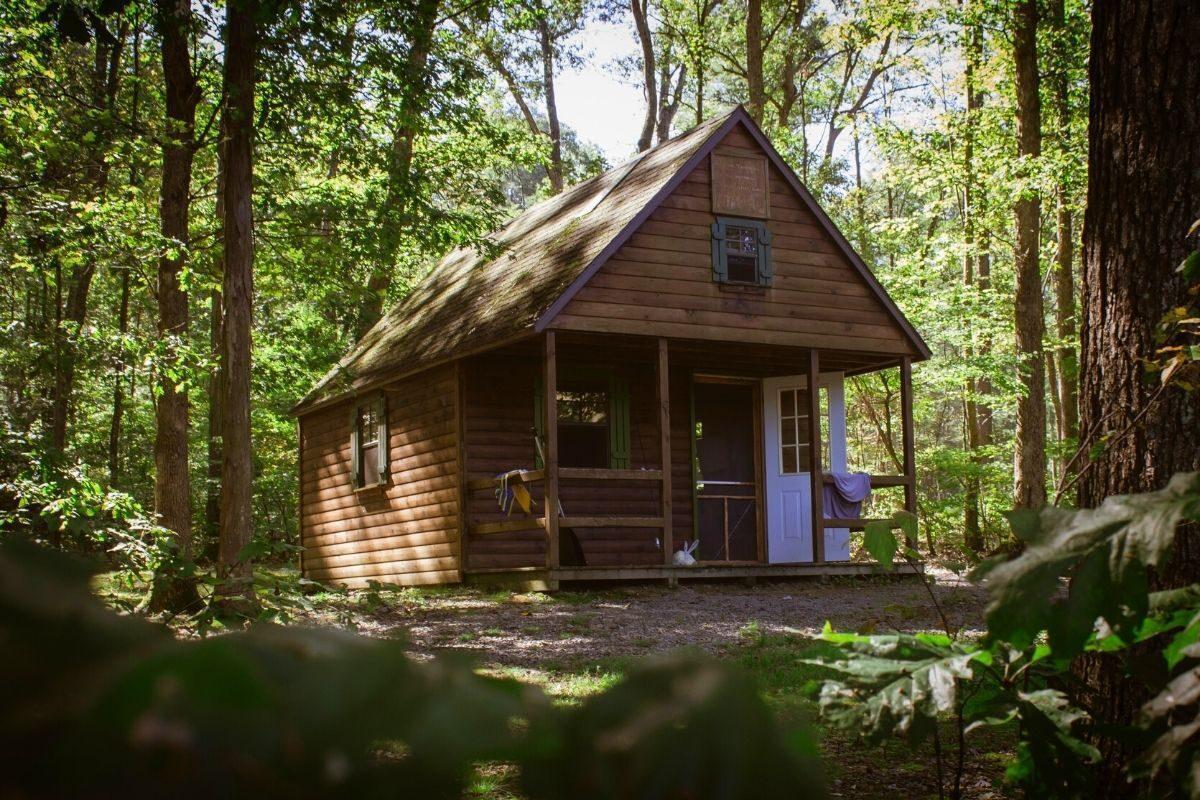 casa de madeira rústica inspirada em chalés