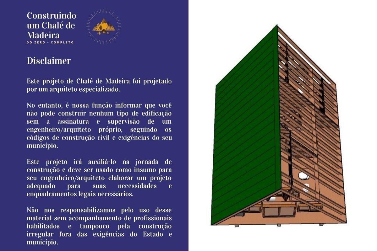 projetos de chalés de campo chale 86m planta 3