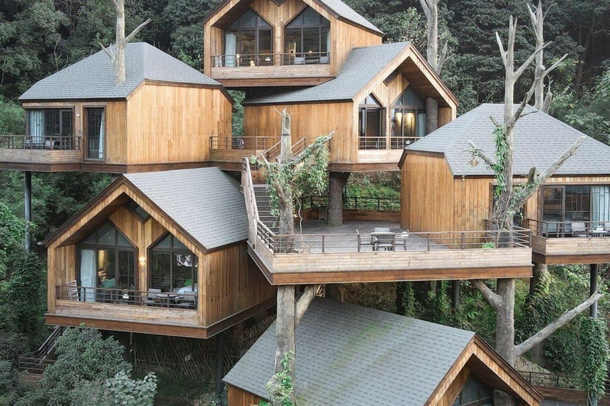 vila de casas na arvore de madeira WH Studio foto 5