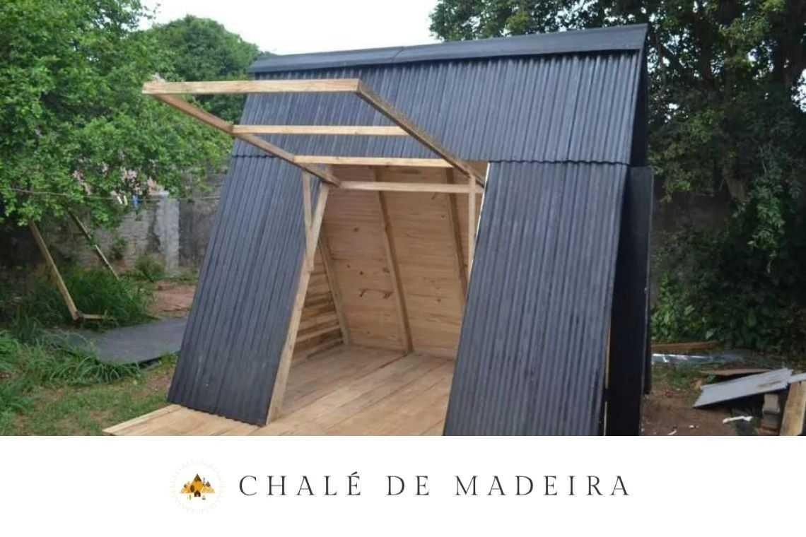 Chalé de madeira com 9 m²