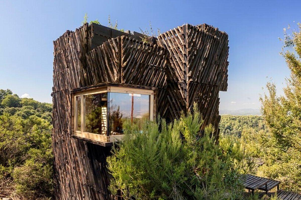 cabana de madeira quarentena voxel iaac foto 1