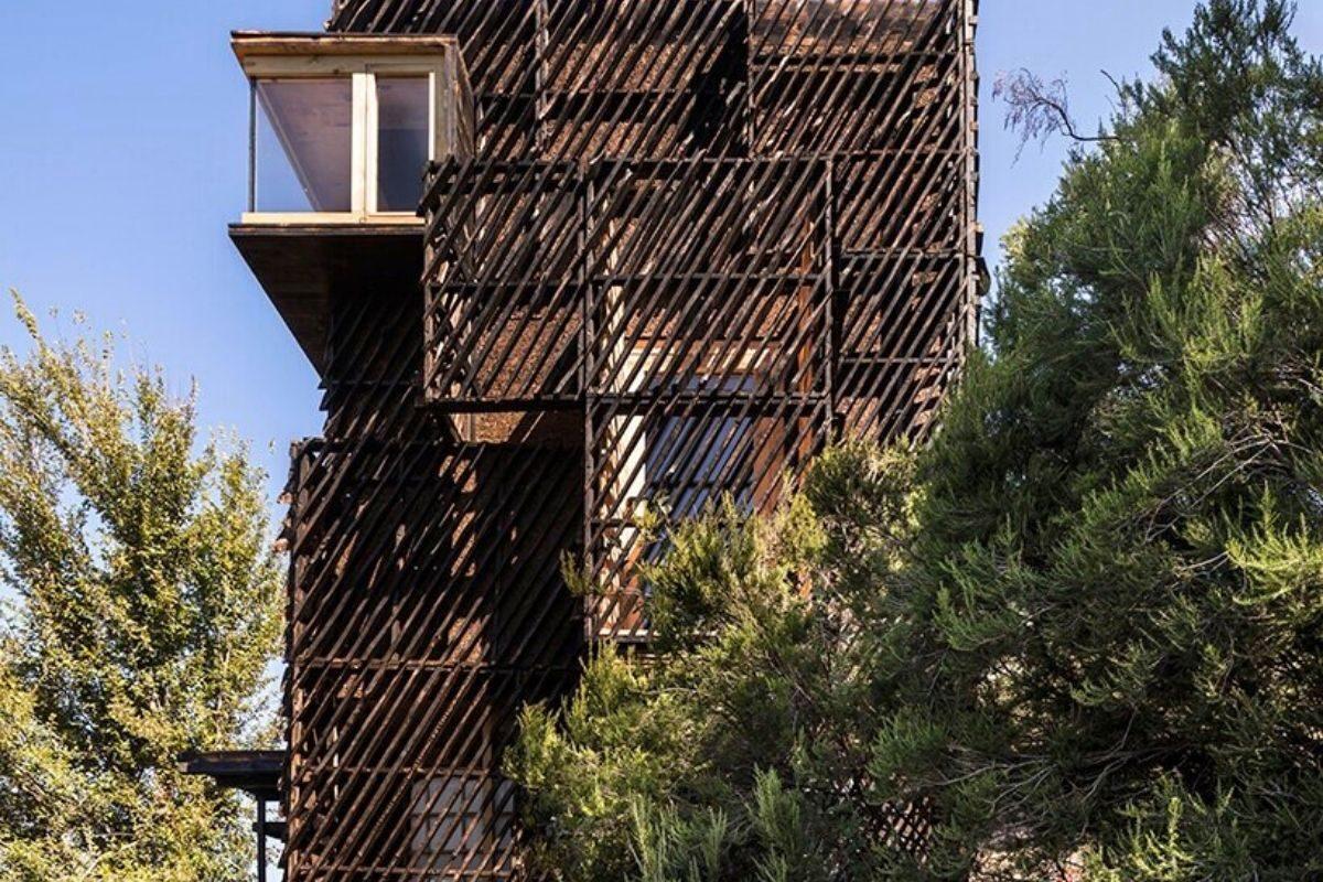 cabana de madeira quarentena voxel iaac foto 2