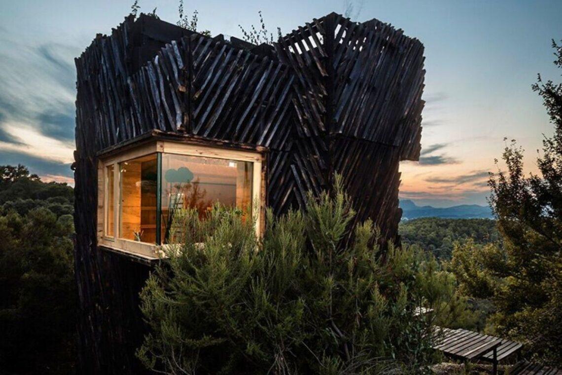 cabana de madeira quarentena voxel iaac foto 3
