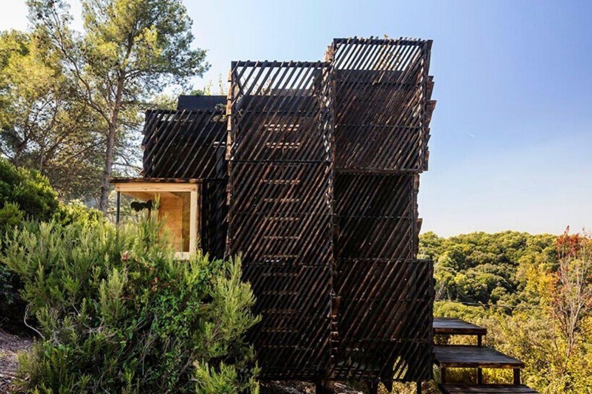 cabana de madeira quarentena voxel iaac foto 5