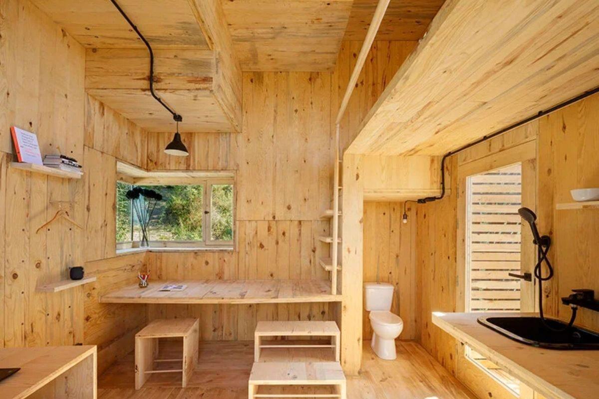 cabana de madeira quarentena voxel iaac foto 7