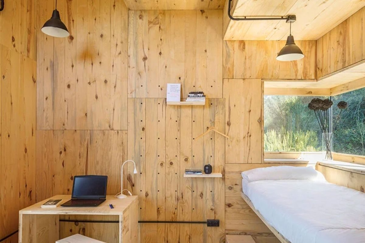 cabana de madeira quarentena voxel iaac foto 8